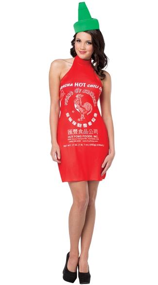 Sexy Sriracha Costume - As Shown