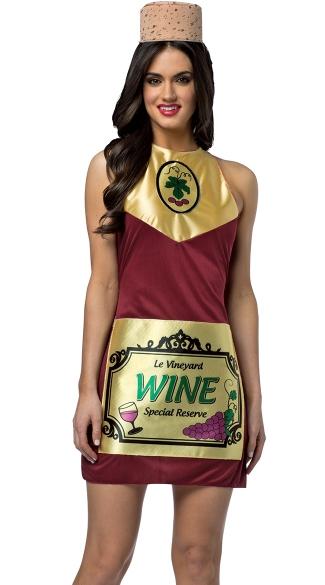 Fine Wine Dress Costume - Multi