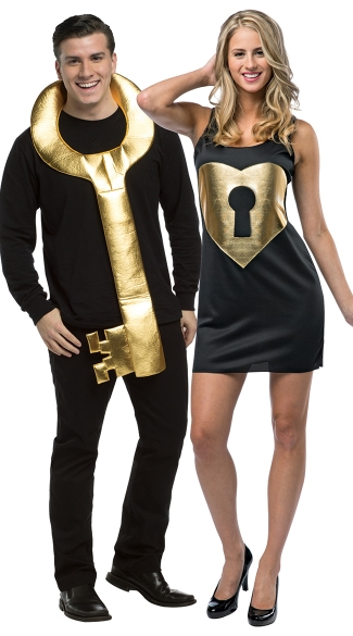 Unlock My Heart Couples Costume - Multi