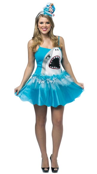 Shark Tutu Costume  sc 1 st  Yandy & Shark Tutu Costume Adult Shark Costume Womenu0027s Shark Halloween Costume