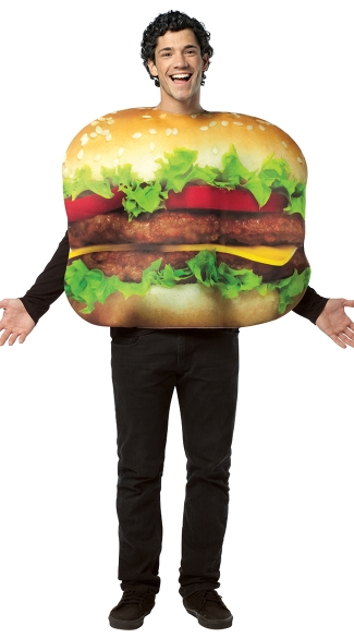Mens Cheeseburger Costume - Multi