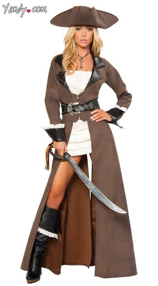 Deluxe Pirate Captain Costume - As Shown
