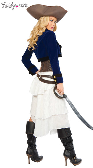 Deluxe Colonial Pirate Costume - As Shown