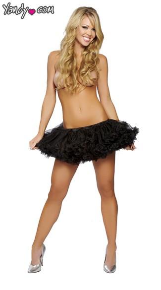 Fluffy Layered Petticoat - Black