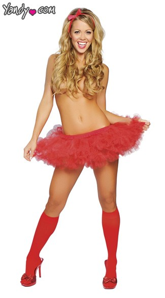 Fluffy Layered Petticoat - Red