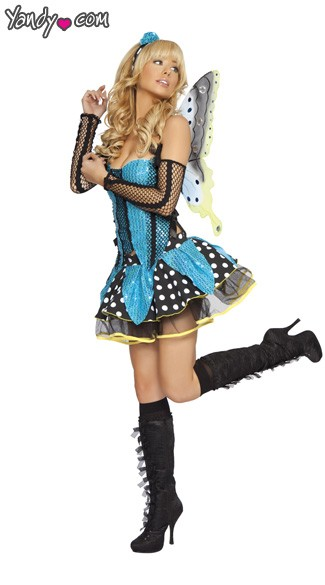 Adult Butterfly Costume, Sweet Butterfly Costume, Blue Butterfly Costume