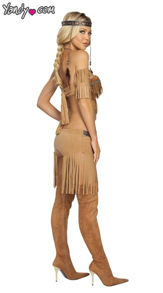 Native American Warrior Costume - As Shown
