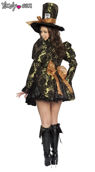 Plus Size Deluxe Mad Hatter Costume - As Shown