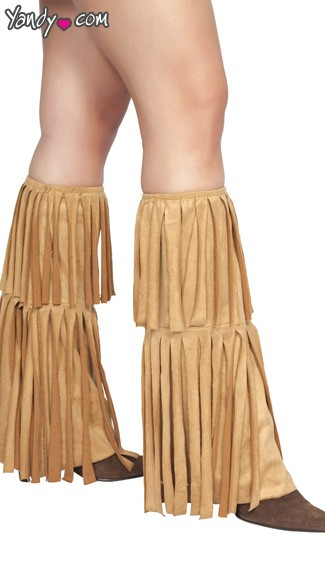 Fringed Leg Warmers - As Shown
