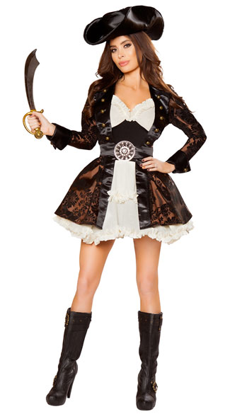 Pirate Beauty Costume, Sexy Pirate Costume, Sexy Pirate Captain Costume