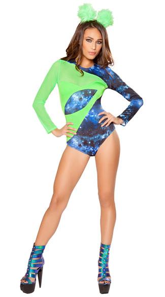 Alien Babe Costume - Green/Blue