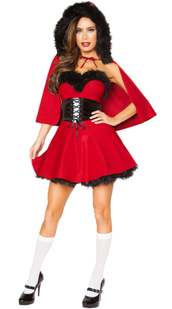 3pc Little Red Damsel Costume, Little Red Hood Costume - Yandy.com