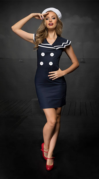 2pc Classy Sailor Costume, Cute Sailor Costume - yandy.com
