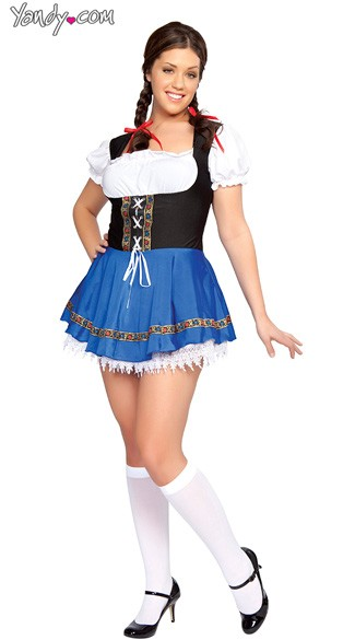 Plus Size Beer Wench Costume, Plus Size Beer Girl Costume