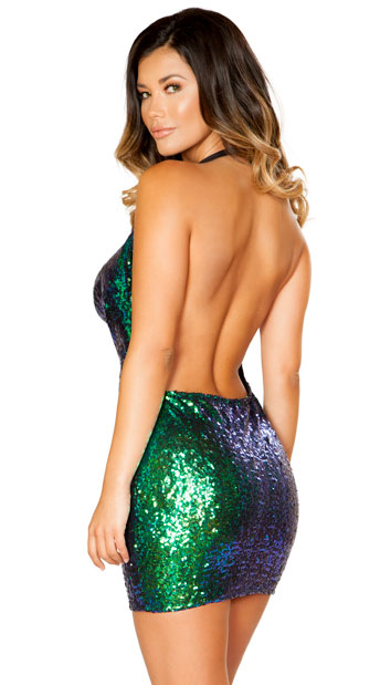 Shimmering Sequin Dress - As Shown