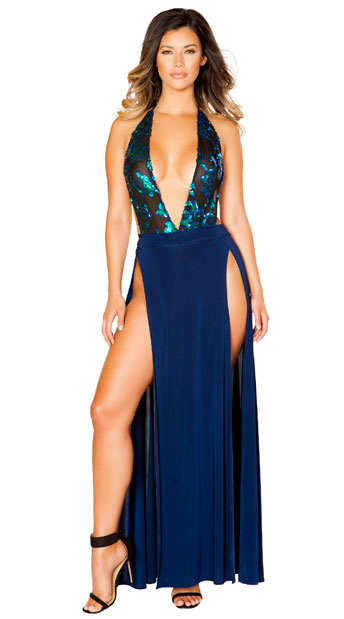 Bold Blue Dress, Lusty Blue Dress - Yandy.com
