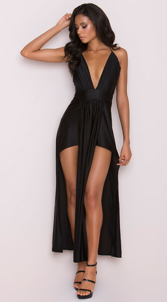 Draping Goddess Dress, Flowing Dress - Yandy.com