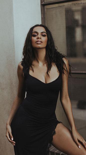 Femme Fatale Black Dress - Black