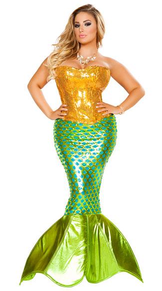 plus size sexy sea mermaid costume plus size sexy mermaid costume plus size gold and green mermaid costume