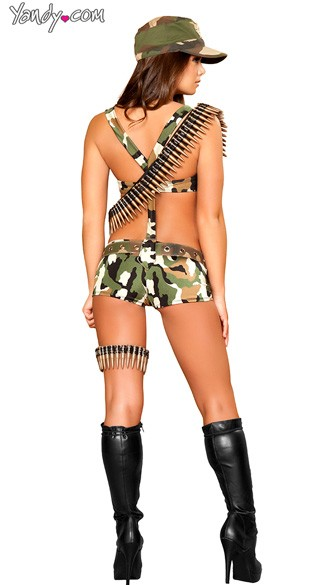 Seductive Soldier Costume - Camouflage