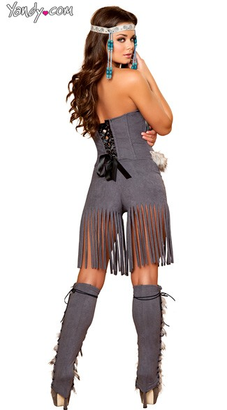 Deluxe Indian Hottie Costume, Adult Native American Costume, Sexy Native American Costume-3064