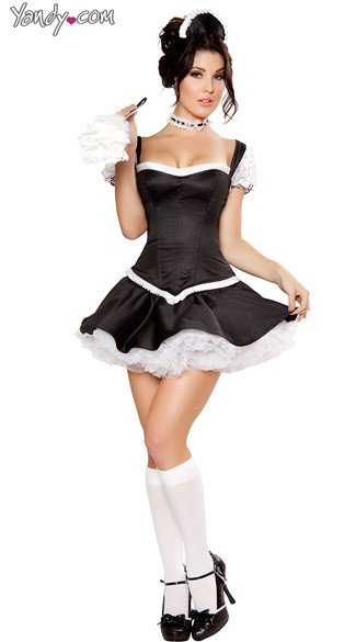 Deluxe Mistress Maid Costume, Black and White Maid Costume, Deluxe Maid Costume