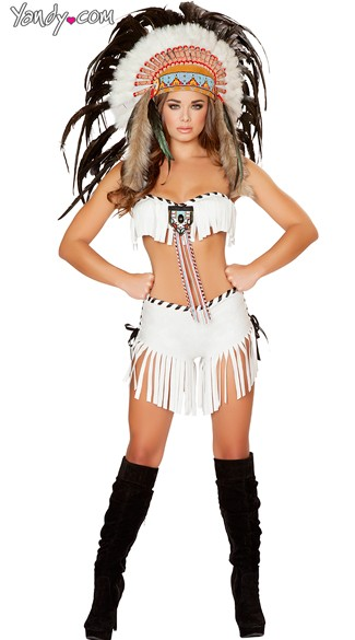 Tribal Trouble Indian Costume, Tribal Indian Costume -3174