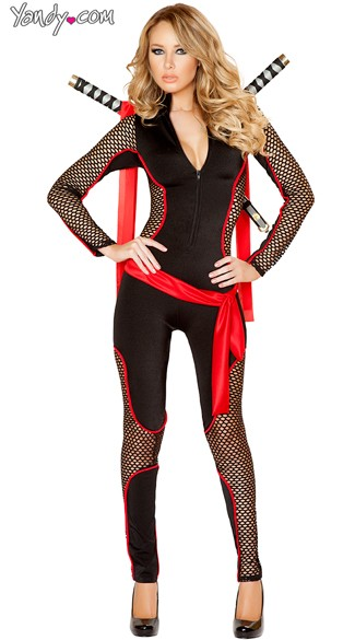 Deadly Ninja Costume Adult Ninja Costume Deadly Vixen Costume