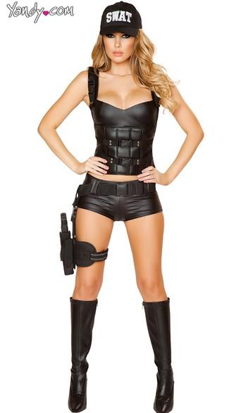 SWAT Sweetie Costume - As Shown