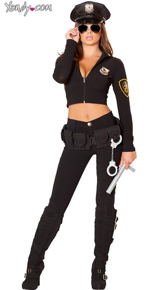 Sexy Crooked Cop Costume - As Shown
