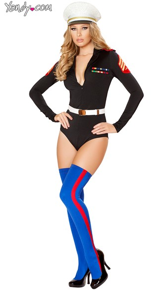 Sexy Marine Costume - As Shown