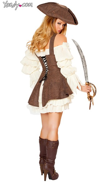 Sexy Pirate Wench Costume - As Shown