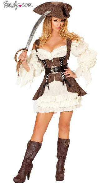 Sexy Pirate Wench Costume, Pirate Wench Costume, Naughty Ship Wench Costume