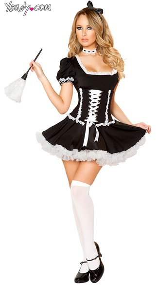 Fifi French Maid Costume - As Shown