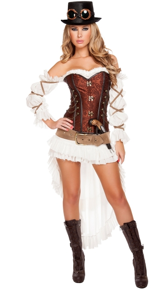 Sexy Steampunk Babe Costume, Sexy Steampunk Costume, Sexy Vintage Costume