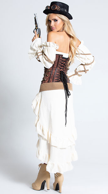 Sexy Steampunk Babe Costume - As Shown