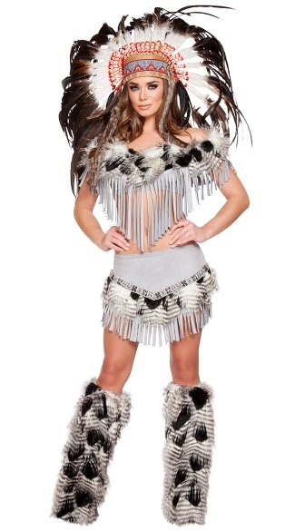 Lusty Native American Maiden Costume - As Shown