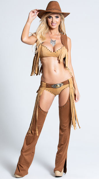 Wild West Temptress Costume - As Shown
