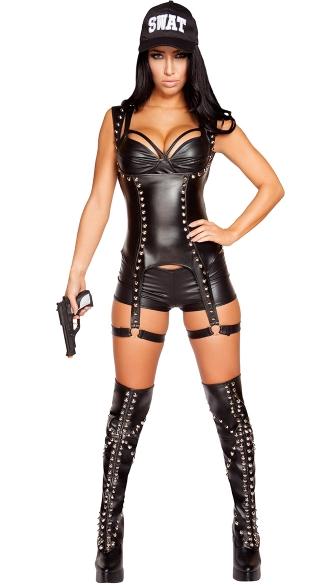 Seductive Swat Agent Costume Sexy Swat Costume Sexy Cop