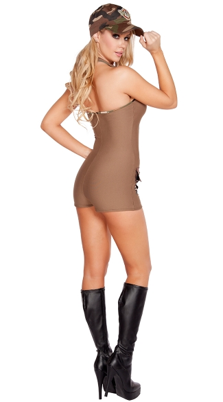 Sultry Soldier Costume - As Shown