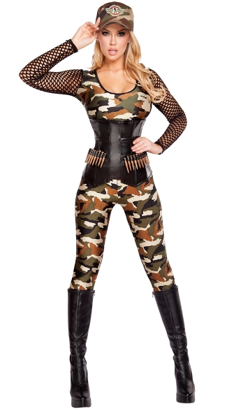 Lusty Lieutenant Costume, Sexy Army Costume, Sexy Military Costume