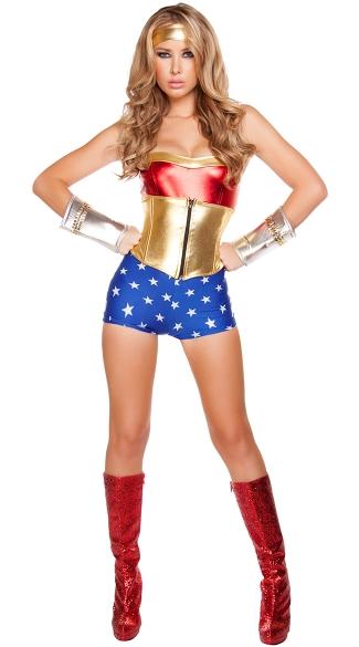 Lusty American Superheroine Costume, Sexy Super Heroine -5659