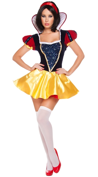 Sultry Snow Costume, Blue and Yellow Princess Costume