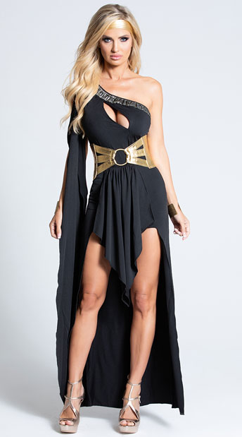 Gorgeous Goddess Costume - Black/Gold