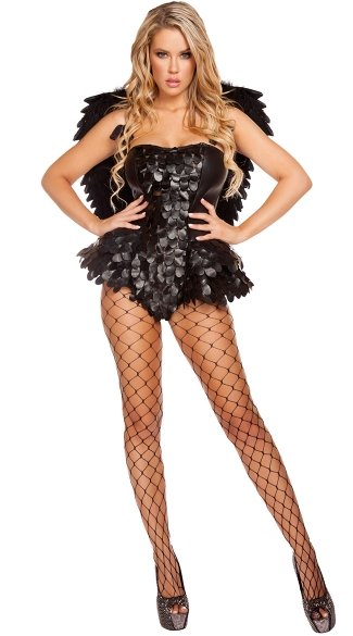 Devious Dark Angel Costume, Sexy Dark Angel Costume, Sexy Angel Costume