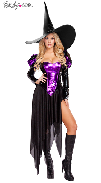 Wickedly Witchy Mistress Costume, Sexy Witch Costume, Black Witch Costume
