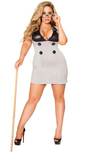 Plus Size Naughty Principal Costume, Plus Size Sexy -7406
