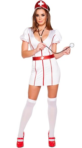 Caretaker Cutie Nurse Costume - White