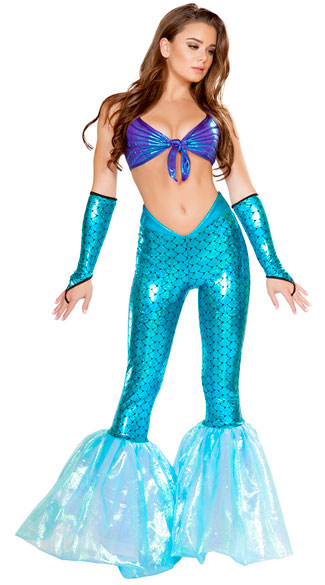Mermaid Vixen Costume, Sexy Mermaid Costume, Mermaid Pants Costume