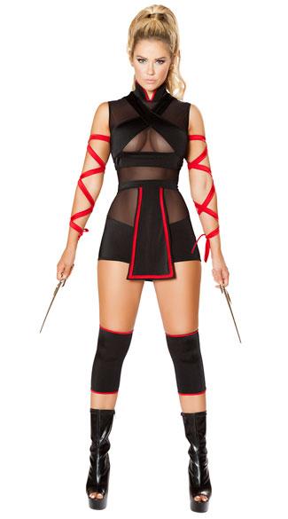 ninja striker costume sexy ninja costume black and red